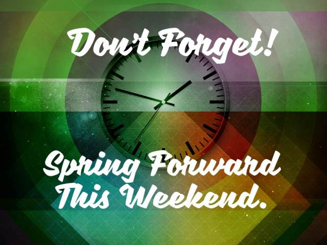 Daylight Savings Spring Forward Graphics